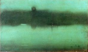 James McNeill Whistler - Nocturne Grey and Silver, 1873-1875