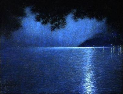 Lucien Levy-Dhurmer The Lake at Nigh.