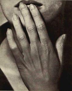Man Ray~Hand on Lips 1929