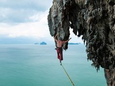 Jared Alden highlining on Koh Yao Noi in Southern Thailand.