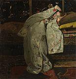 George_Hendrik_Breitner_-_Meisje_in_witte_kimono_(Geesje_Kwak)
